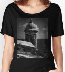 Garita del Morro 001 BW Women's Relaxed Fit T-Shirt