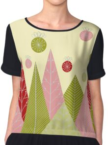 Ornaments and Trees Women's Chiffon Top