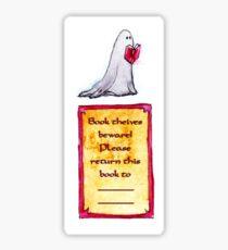 Ghost Bookplate Sticker