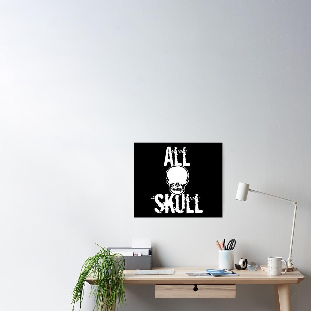All Skull - The Dark Side Poster