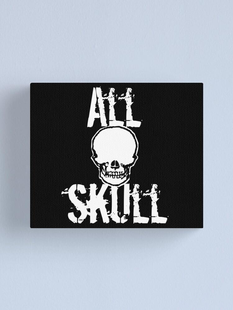 Alternate view of All Skull - The Dark Side Canvas Print