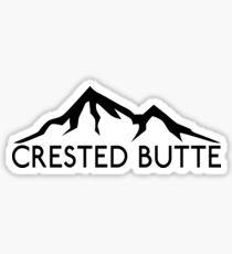 CRESTED BUTTE COLORADO Ski Skiing Mountain Mountains Skis Silhouette Snowboard Snowboarding Sticker
