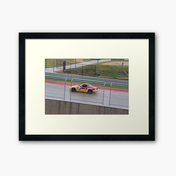 Racing at COTA with Team ROADKILL Framed Art Print