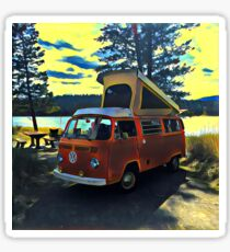 Lakefront Volkswagen Bus Westfalia Vintage VW Sticker