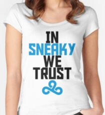In Sneaky we trust Women's Fitted Scoop T-Shirt