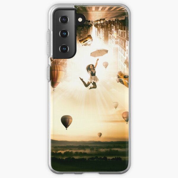 falling from city Coque souple Samsung Galaxy