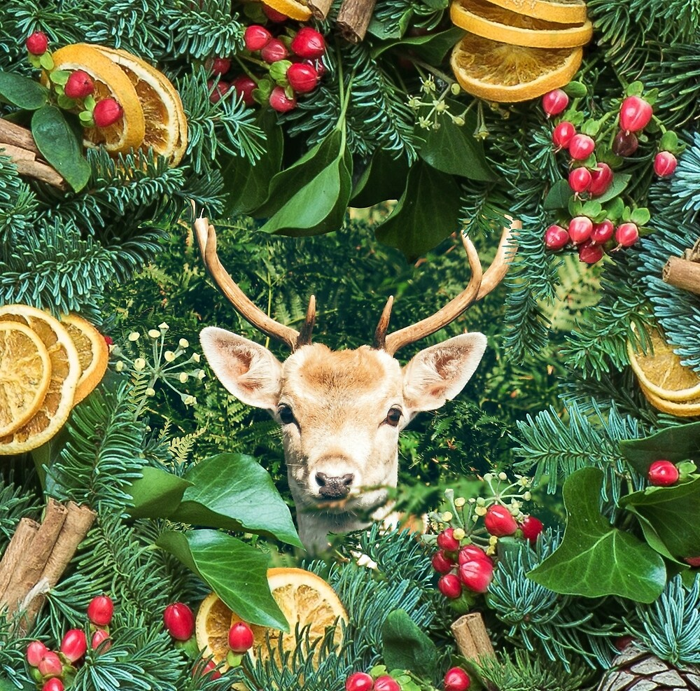 And in the middle of the wreath ...oh deer! by ADrawingFerrett