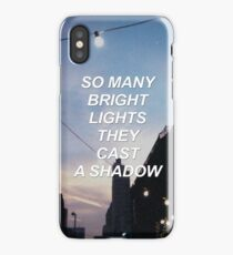 So many bright lights they cast a shadow MCR {SAD LYRICS} iPhone Case/Skin