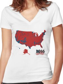 2016 Election Results Women's Fitted V-Neck T-Shirt