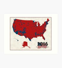 2016 Election Results Art Print