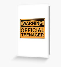 13th Birthday Gifts - Warning Official Teenager Greeting Card