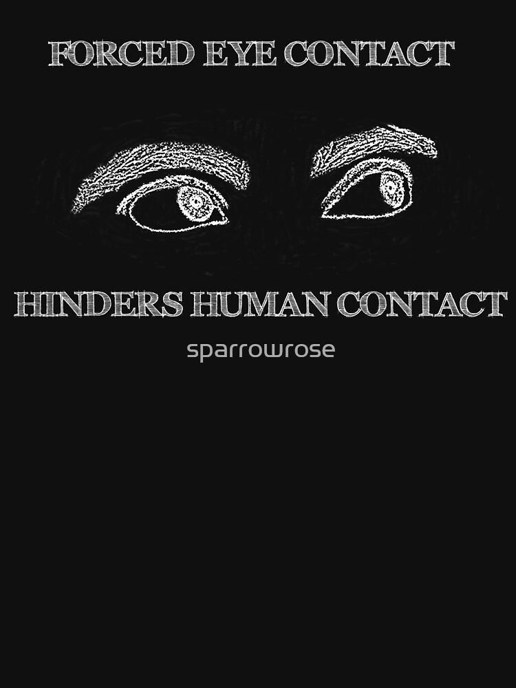 Eye Contact - Dark Background by sparrowrose