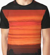 Telephone Poles Against an Orange Sky  Graphic T-Shirt
