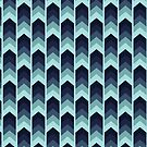 Chevron Crazy - Teal by Hannah Sterry