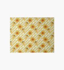 Daffodils Striped Pattern Art Board