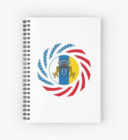 Canarian American Multinational Patriot Flag Series Spiral Notebook