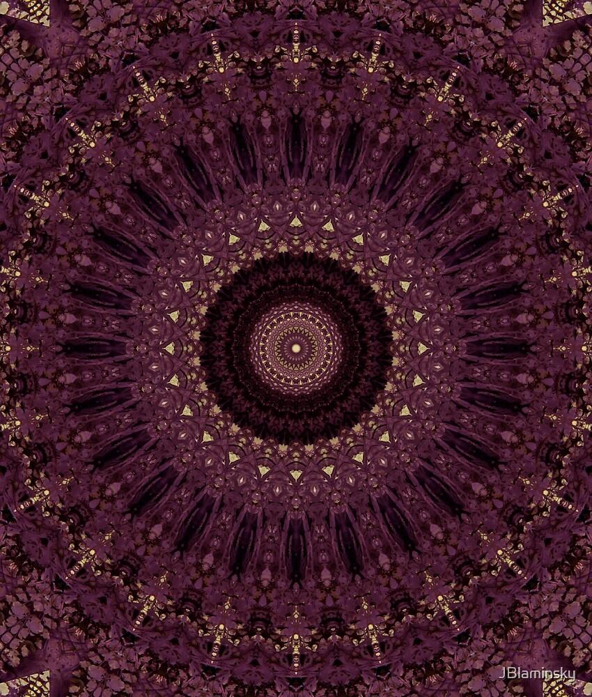 Mandala in purple tones by JBlaminsky