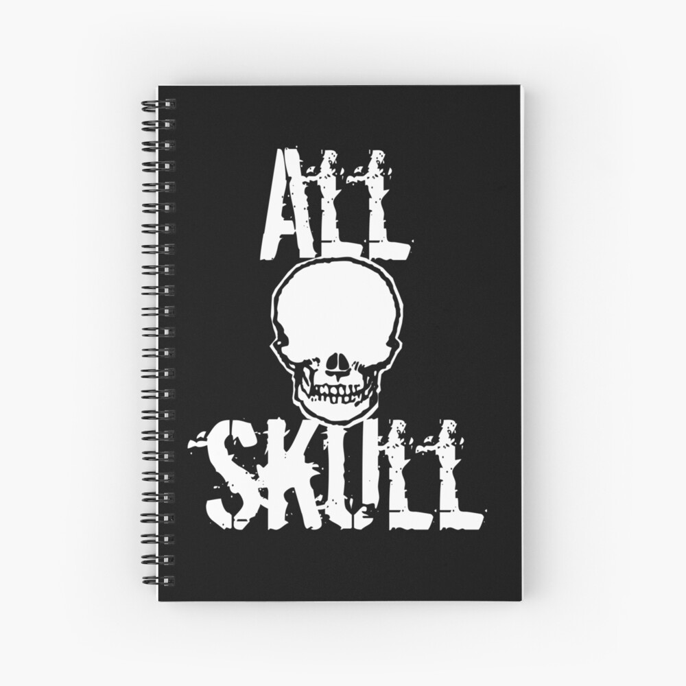 All Skull - The Dark Side Spiral Notebook
