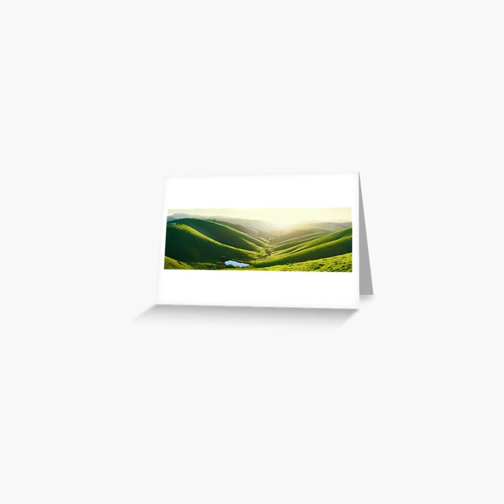 Green Hills, Gippsland, Victoria, Australia Greeting Card