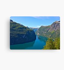 Views: 10661***. Earth Wonders -  the Gerianger Fjord . Møre og Romsdal . Norway . by Doctor Andrzej Goszcz.  Canvas Print