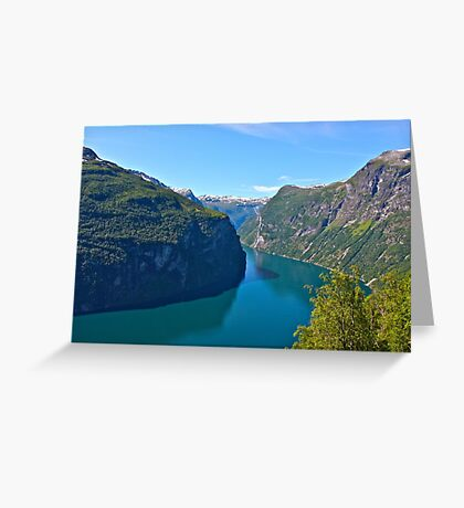 Views: 10661***. Earth Wonders -  the Gerianger Fjord . Møre og Romsdal . Norway . by Doctor Andrzej Goszcz.  Greeting Card