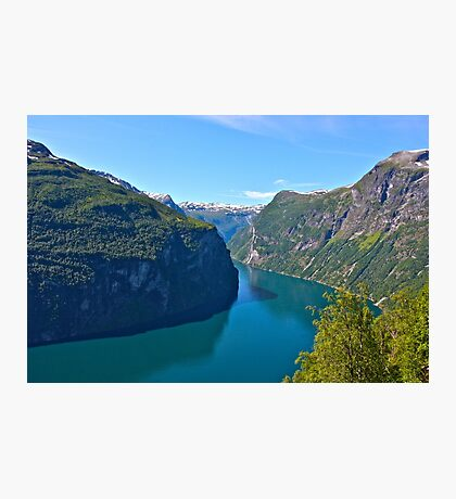 Views: 10661***. Earth Wonders -  the Gerianger Fjord . Møre og Romsdal . Norway . by Doctor Andrzej Goszcz.  Photographic Print