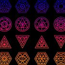 Sacred Geometry Sticker Sheet by EsotericExposal