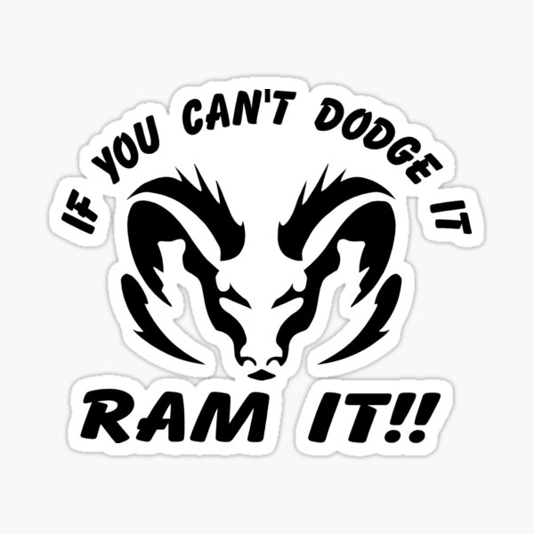 Decals Express Ram Muscle Tough Decal Compatible with Dodge Pink