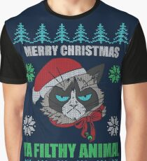 Merry Christmas Ya Filthy Animals Graphic T-Shirt