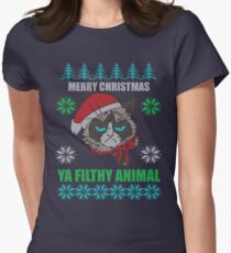 Merry Christmas Ya Filthy Animals Women's Fitted T-Shirt