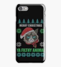 Merry Christmas Ya Filthy Animals iPhone Case/Skin