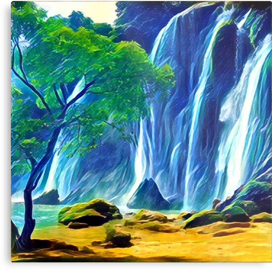 abstract land scape, contemporary art, hand painted, nature,beautiful by love999
