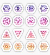 Sacred Geometry Sticker Sheet Sticker
