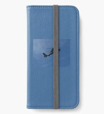 Helicopter on Blue, Chopper iPhone Wallet/Case/Skin