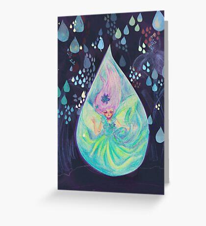 Raindrop fairy  Greeting Card