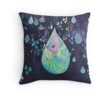 Raindrop fairy  Throw Pillow