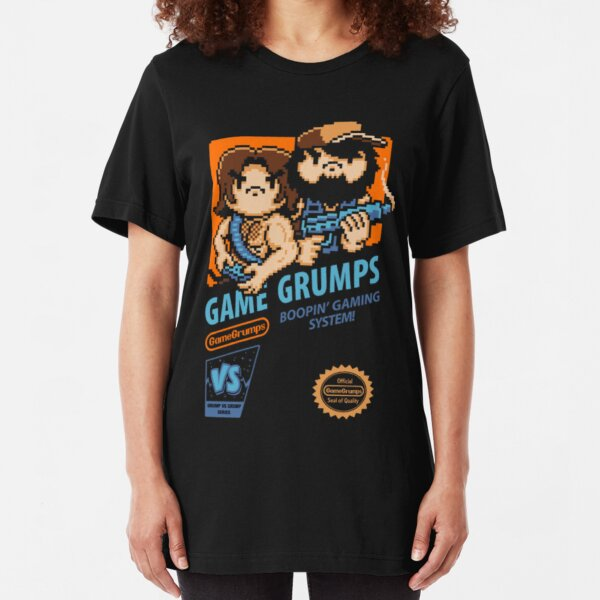Game Grumps NES Cover Slim Fit T-Shirt
