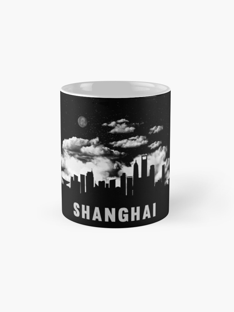 Alternate view of Shanghai China Skyline Cityscape Night Mug