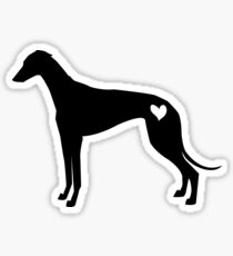 Greyhound siluet Sticker