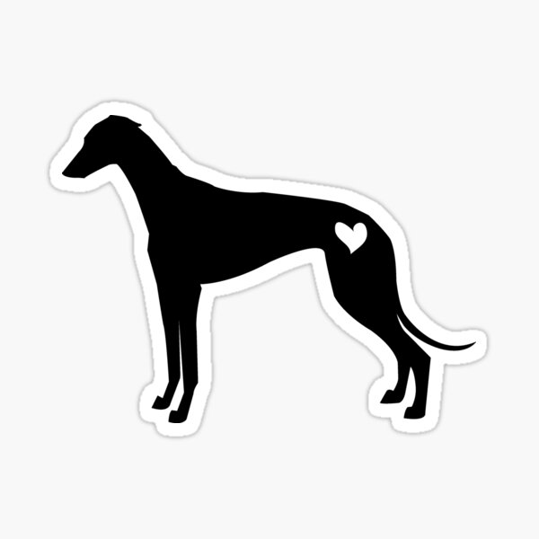 Greyhound silhouette Sticker