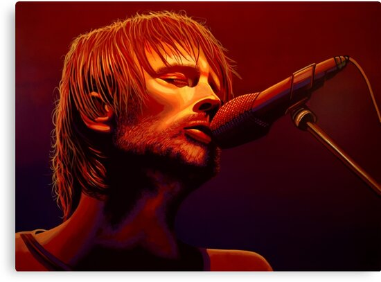 Thom Yorke of Radiohead Painting by PaulMeijering