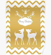 Bambi Christmas background. Poster