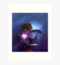 Kingdom Hearts I - Kairi's heart Art Print