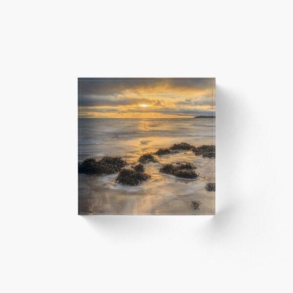 Mountcharles Sunset Acrylic Block