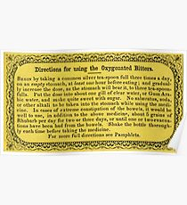 1800's Oxygenated Bitters Label Poster
