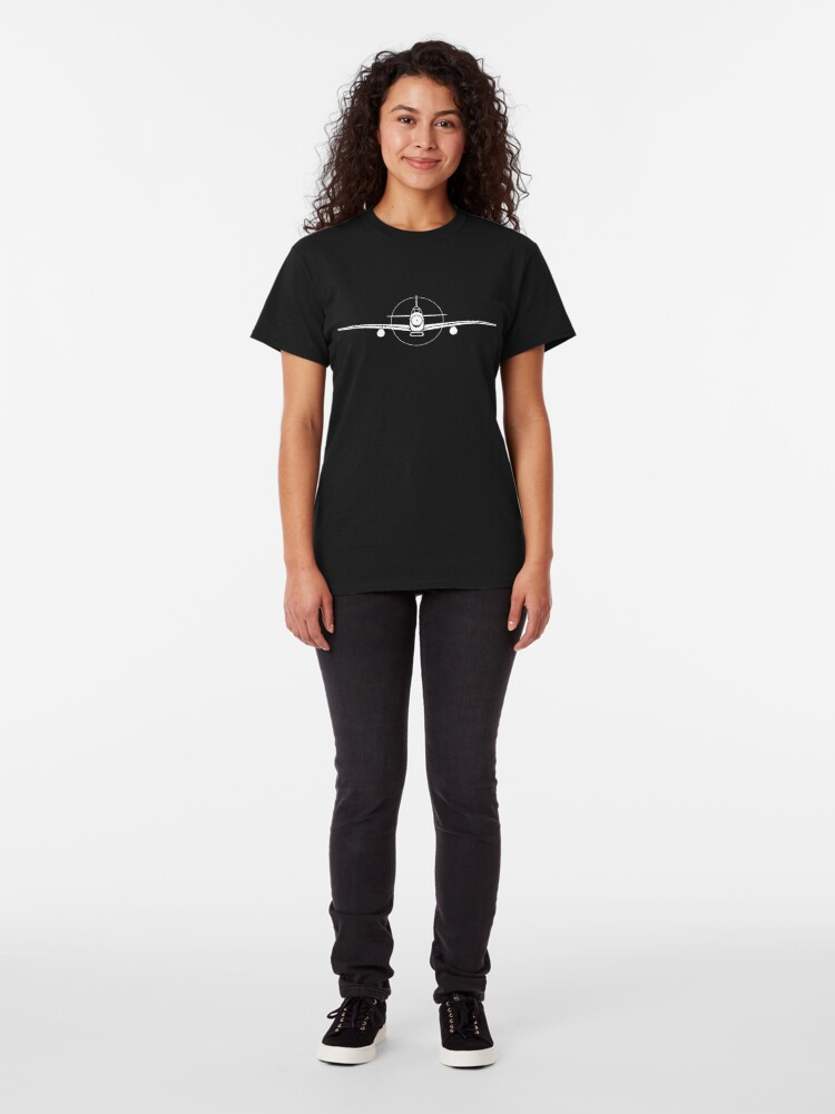 Alternate view of P-51 Mustang Fighter T-Shirt Classic T-Shirt