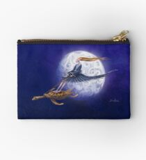 Turtle Girl rides the full moon. Studio Pouch