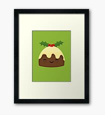 Cute Christmas Pudding Framed Print
