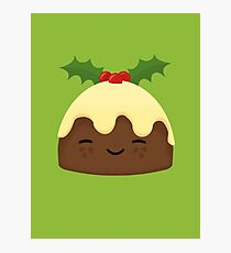 Cute Christmas Pudding Photographic Print