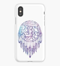 Dream Without Fear Watercolor Dreamcatcher iPhone Case/Skin